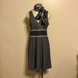 Max Studio  dress black & white polka dot size L